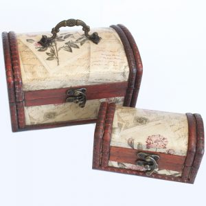 Set of 2 Colonial Boxes – Rose Design
