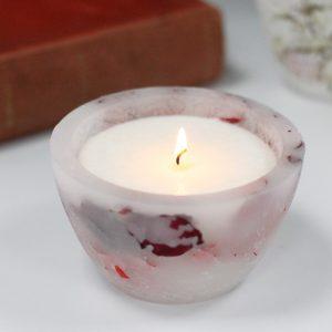 Enchanted Candle – Large Bowl – Rose
