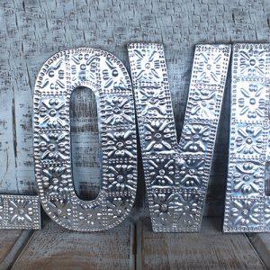 Lrg Arty Aluminum Letters – LOVE