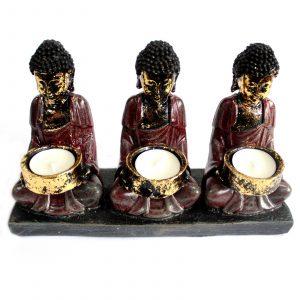 Three Devotees Candle Holder