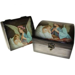 Set of 2 Angel Wooden Boxes – Guardian Angel Child