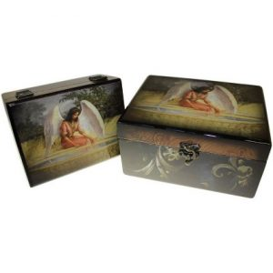 Set of 2 Angel Wooden Boxes – Reflective Angel