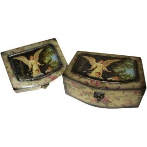 Set of 2 Angel Wooden Boxes – Caring Angel