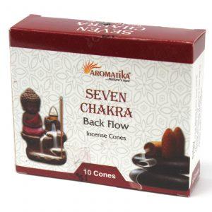 Aromatica Backflow Incense Cones – 7 Charkras