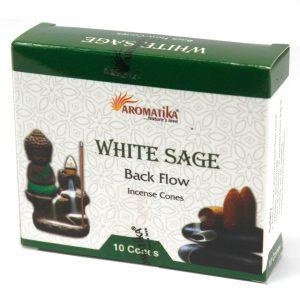 Aromatica Backflow Incense Cones – White Sage