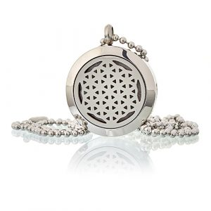 Aromatherapy Diffuser Necklace – Flower of Life 25mm