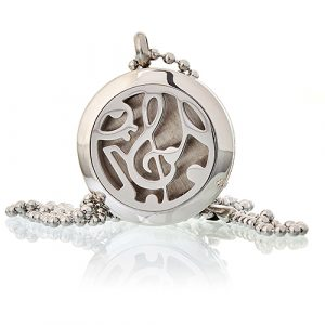 Aromatherapy Diffuser Necklace – Music Notes 25mm