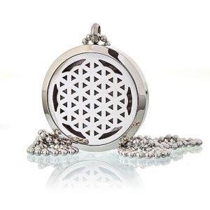 Aromatherapy Diffuser Necklace – Flower of Life 30mm