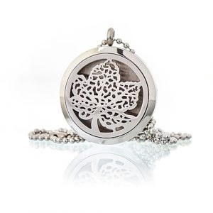 Aromatherapy Diffuser Necklace – Leaf 30mm