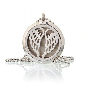 Aromatherapy Diffuser Necklace – Angel Wings 30mm