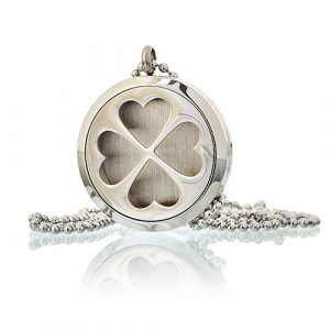 Aromatherapy Diffuser Necklace – Four Leaf Clover  30mm