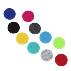 10x Aromatherapy Necklace Reusable Refill Pad – 25mm