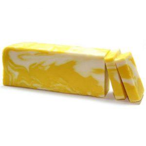 Lemon – Olive Oil Soap Slice