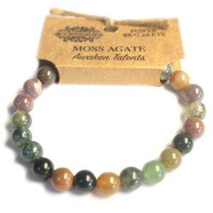 Power Bracelet – Moss Agate
