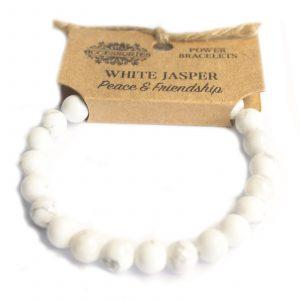 Power Bracelet – White Jasper