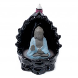 Back Flow Incense Burner-Buddha & Lights (flashing LED lights)