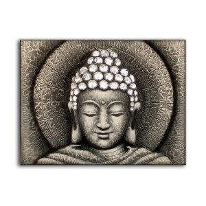 Sun Buddha Silver – Painting