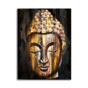 Wood Buddha Golden – Painting
