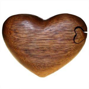 Bali Puzzle Box – Single Heart