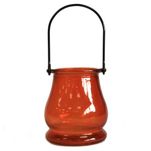 Recycled Candle Lantern – Amber