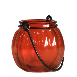 Recycled Pumpkin Candle Lantern – Amber