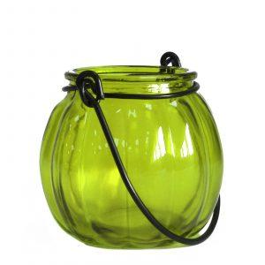 Recycled Pumpkin Candle Lantern – Moss