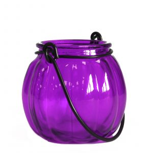 Recycled Pumpkin Candle Lantern – Lavender
