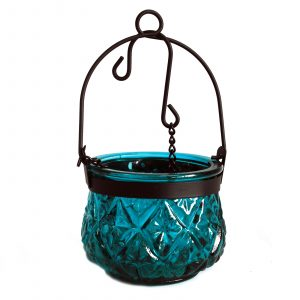 Moroccan Style Hanging Candle Lantern – Teal