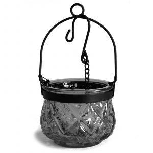 Moroccan Style Hanging Candle Lantern – Grey