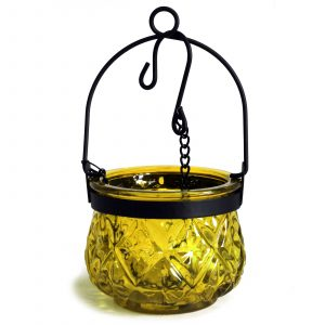Moroccan Style Hanging Candle Lantern – Yellow