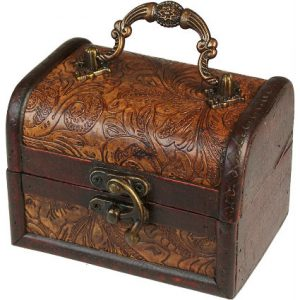 Large Colonial Box – Floral Embossed