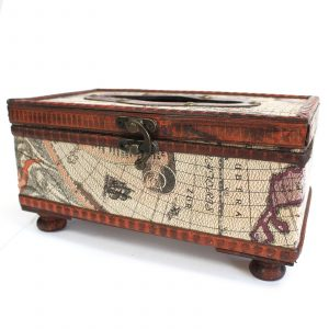 Vintage Style Tissue Box – Old Map