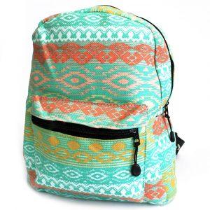 Undersized Backpack – Teal Pastels