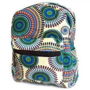 Undersized Backpack – Cream Mandala Design