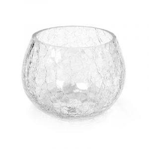 Crackle Candle Holder – Crystal