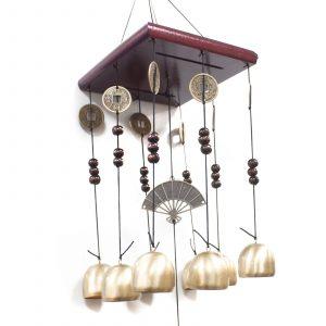 Feng Shui Chimes – Square 8 Bells & Fan