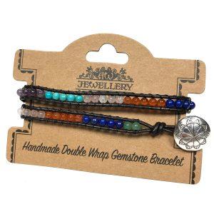 Double Wrap Bracelet -Multi Stone Chakra