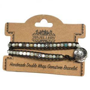Double Wrap Bracelet -Amazonian & Flower Detail