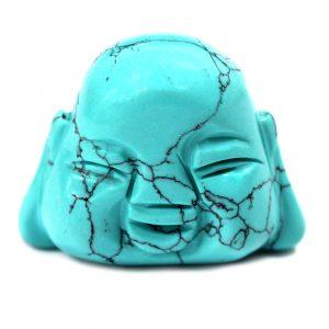 Gemstone Buddha Head – Turquoise