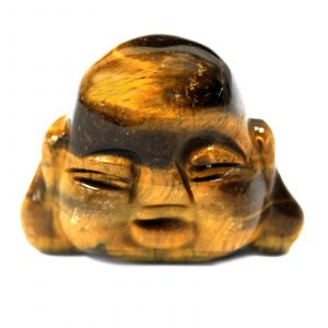 Gemstone Buddha Head – Tiger Eye
