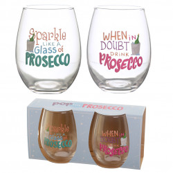 Pop the Prosecco Set of 2 Glass Tumblers – Prosecco Slogans
