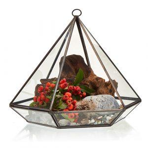 Glass Terrarium -Large Diamond