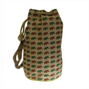 Jute Duffle Bag – Rhino