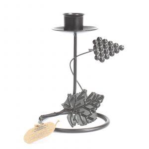 Iron Candle Holder – Single Stick Grape Vine