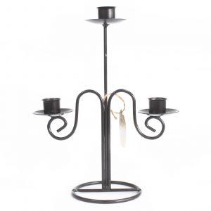Iron Candle Holder – Tri Stick Elegant