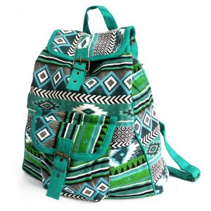 Jacquard Bag – Teal Backpack