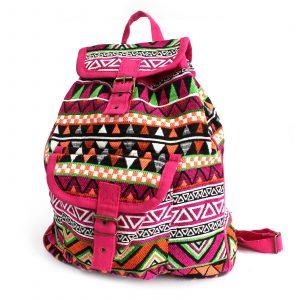 Jacquard Bag – Pink Backpack