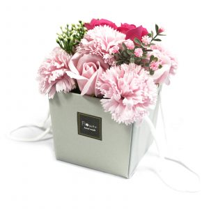 1x Soap Flower Bouquet – Pink Rose & Carnation