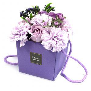 1x Soap Flower Bouquet – Lavender Rose & Carnation