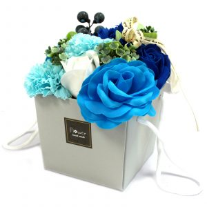 1x Soap Flower Bouquet – Blue Wedding